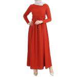 Beli Büzgülü Elbise 2923 - Kiremit