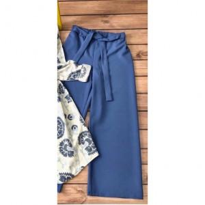 Kuşaklı Pantolon 1003 - Mavi