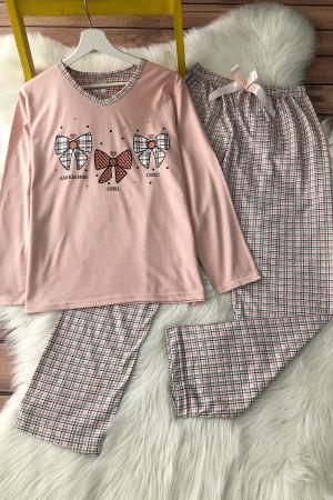 Fiyonk Pijama Takım - Somon