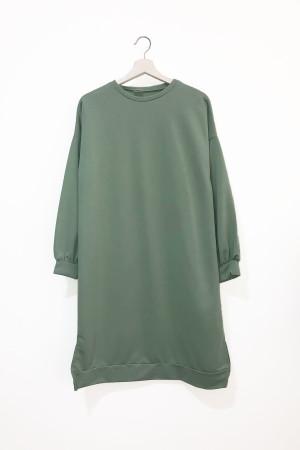 Yanları Yırtmaçlı Tunik - Yeşil