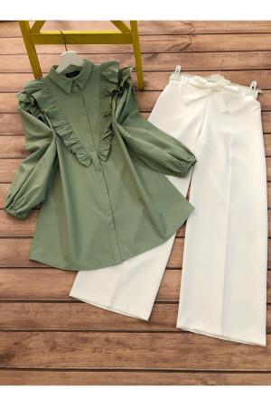 Gömlek Pantolon Takım - Yeşil