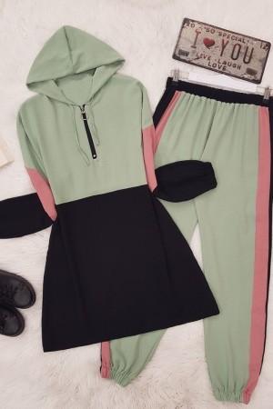 Parçalı Ayrobin Takım -Yeşil