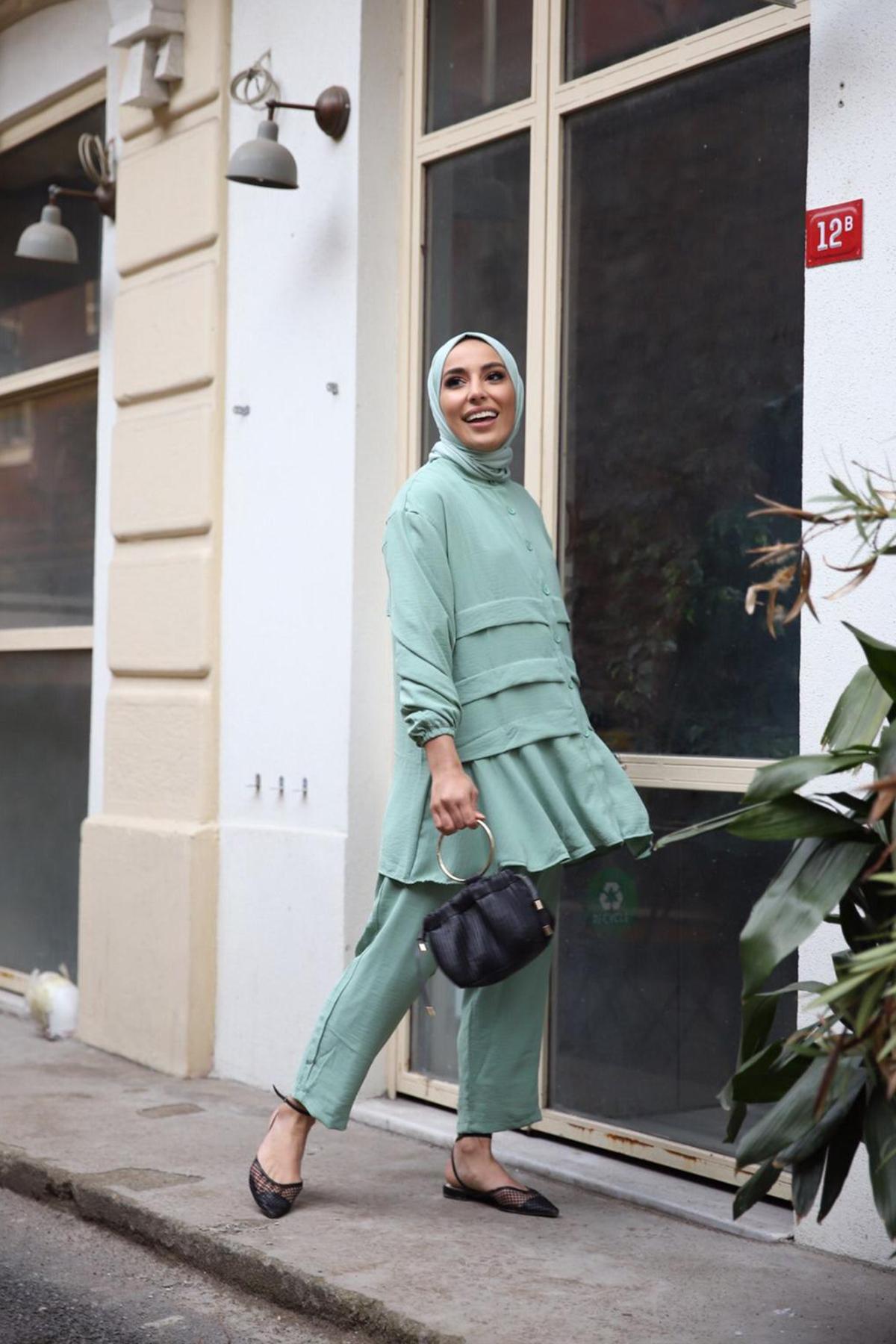 Prenses Ayrobin Takım - Mint Yeşili