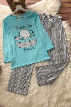 Dream Pijama Takım - Turkuaz