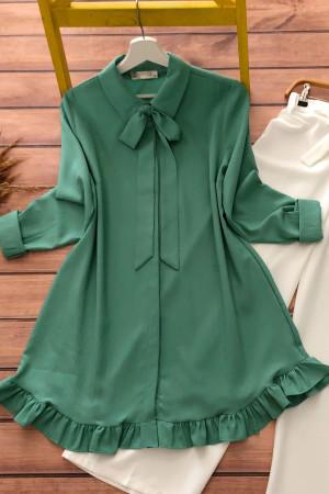 Fırfırlı Tunik MQ3989 - Yeşil