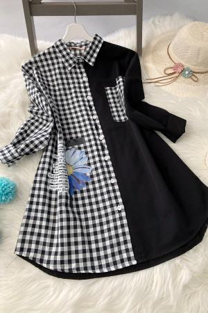 Pitikare Oversize Gömlek - Siyah