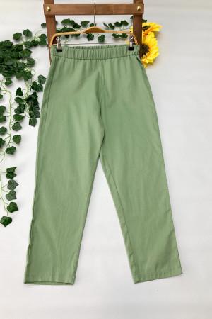 Gabardin Pantolon - Yeşil
