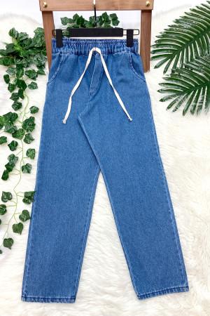 Cepli Lasitkli Kot Pantolon - Açık Mavi